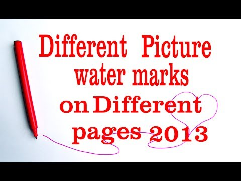 different watermark on each page word 2013 | multiple watermarks in word document
