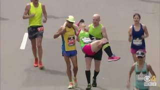 Boston Marathon 2017 epic 42k finish!
