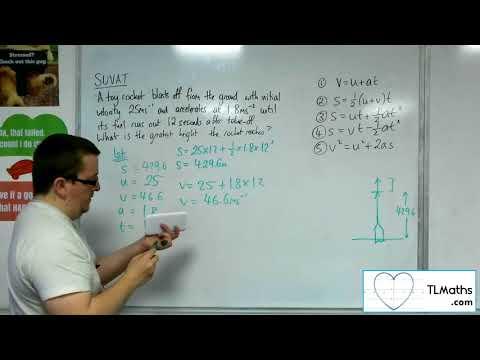 A-Level Maths 2017 Q3-10 [SUVAT: More Complicated Problem 3]