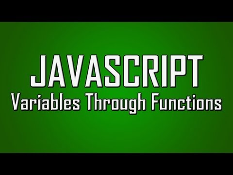 Learn JavaScript - #13 - Passing Variables Through Functions [1080p]