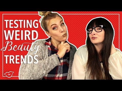 Testing Weird Beauty Trends that went VIRAL in 2017! | Laughing Moms for Millennial Moms