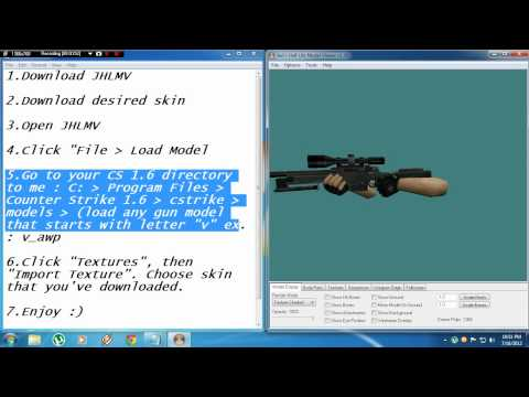 Counter Strike 1.6 How to change hands skin [TUTORIAL]