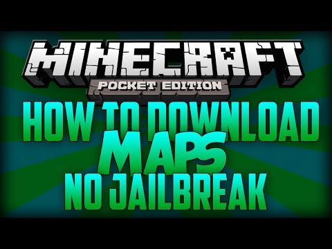 Minecraft Pocket Edition : How To Download Maps NO JailBreak