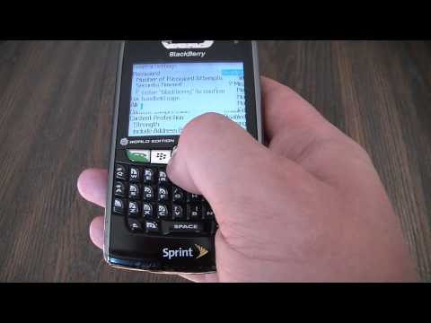 How To Master Reset A Blackberry 8830 Smartphone