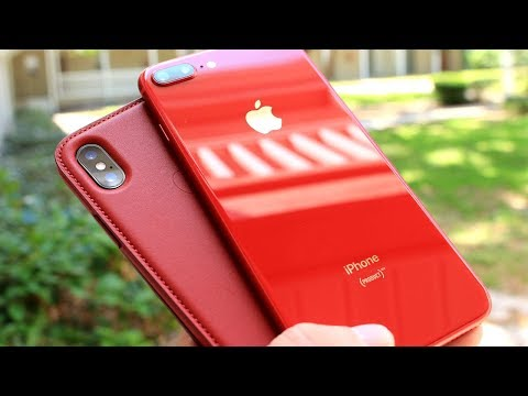 iPhone 8 Plus RED & iPhone X Red Leather Folio Case