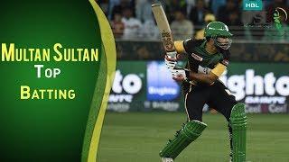 Multan Sultan Vs Peshawar Zalmi   Best Batting Highlights Of Multan Sultan   PSL 2018
