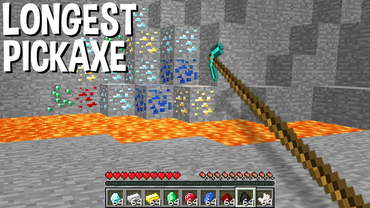 WHAT? this LONGEST PICKAXE in Minecraft ???