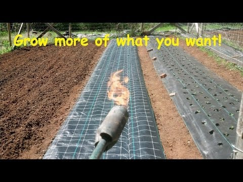 How to Install and burn holes in landscape weed barrier fabric