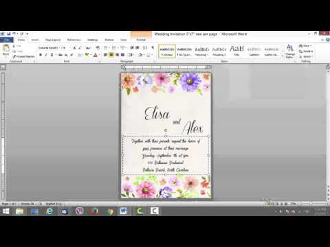 Wedding Invite Template for MS Word