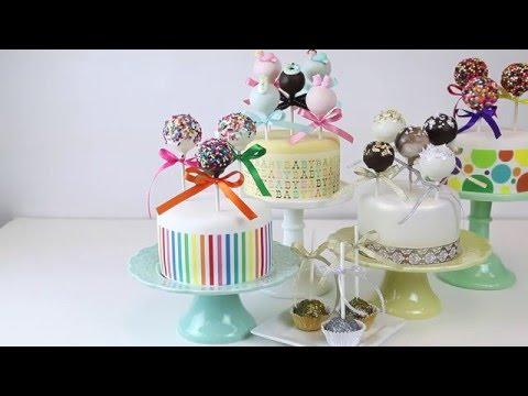 Gold & Silver Leaf Cake Pops