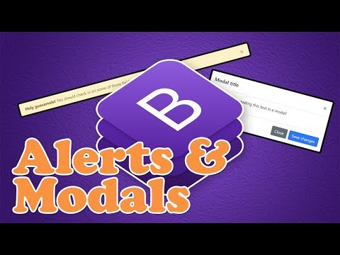 Bootstrap 4 Alerts & Modals | BOOTSTRAP 4 TUTORIAL