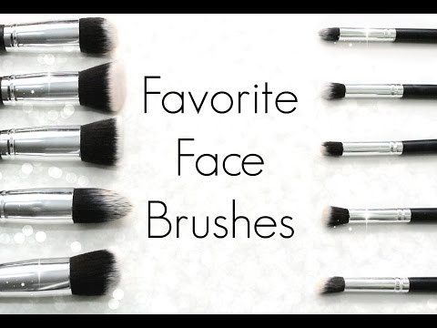 My Favorite Face Brushes! (foundation, contour, concealer, powder, blush)