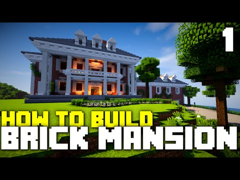 Minecraft Xbox One: How To Build - Brick Mansion! (Part 1)