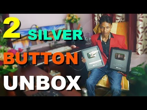 2 YouTube Silver Play Button Unbox at One Time