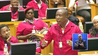 """Julius Malema And Mmusi Maimane Asking Ramaphosa A Difficult Question """"VBS And His Son"""""""