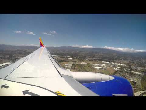 First Southwest Airlines Flight in Costa Rica