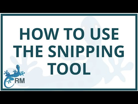 Using the snipping tool to convert