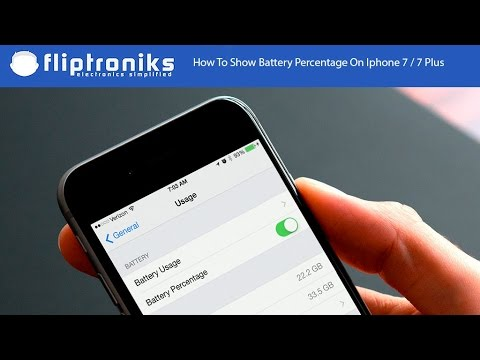 How To Show Battery Percentage On Iphone 7 / Iphone 7 Plus - Fliptroniks.com