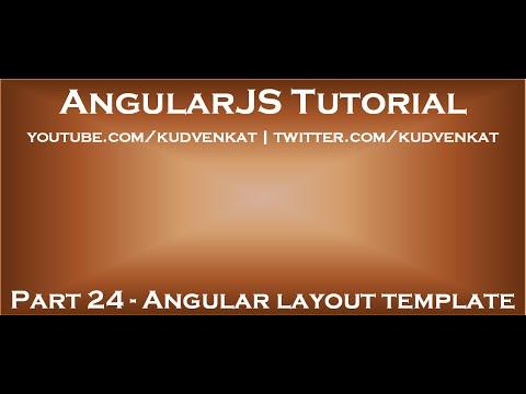 Angular layout template