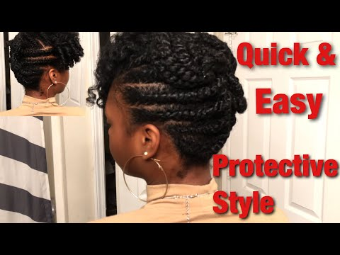 Quick & Easy Winter Protective Style for Natural Hair | Creme of Nature