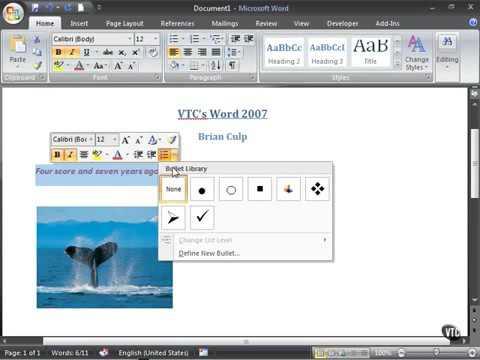 Microsoft Word 2007 ENG TB 01 04 Using the Mini Toolbar
