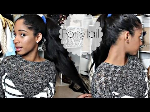HOW I: PONYTAIL - ON THICK STRAIGHTENED HAIR