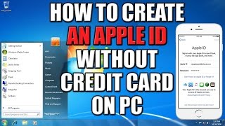 How To Create Apple Id Without Credit Card On Pc 2016 101 Working Met
