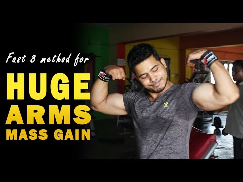 How to Get Big Arms (Triceps and Biceps) Arms Exercises in Telugu by fitness model Chaitanya Krishna