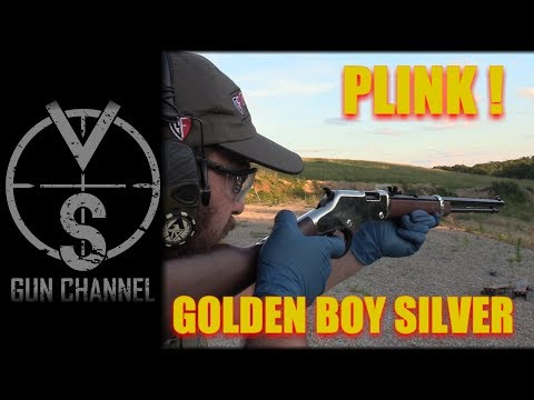 Plinking with the Golden Boy Silver .22LR