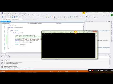 How to Get Substring from String in C# Using Visual Studio 2017