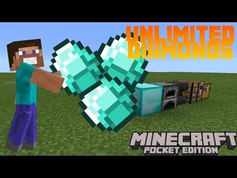 How to get Unlimited Diamond on Minecraft PE 2016! - Minecraft Pocket Edition
