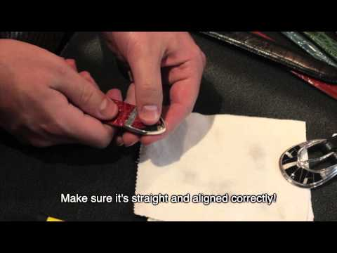 How to install a belt buckle tip