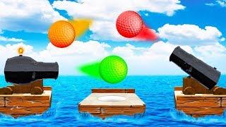 IMPOSSIBLE CANNON TRICK SHOT!? (Golf It)