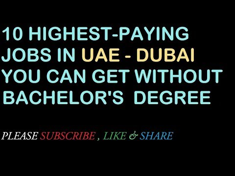 10 highest-paying jobs you can get without a bachelor's degree - in UAE - DUBAI