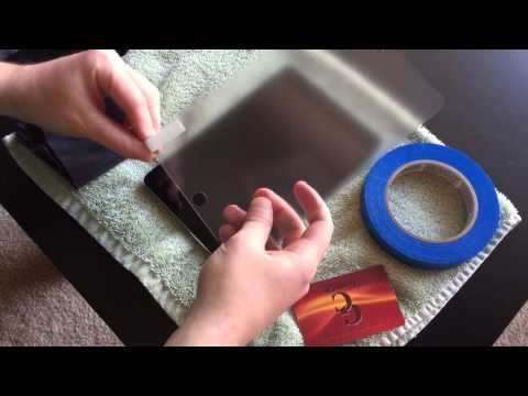 How to Put a Screen Protector on Your iPad