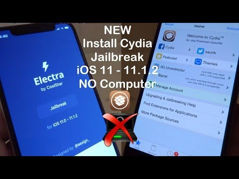 NEW How To Install Cydia JAILBREAK iOS 11 - 11.1.2 NO Computer iPhone, iPad & iPod Touch - Electra