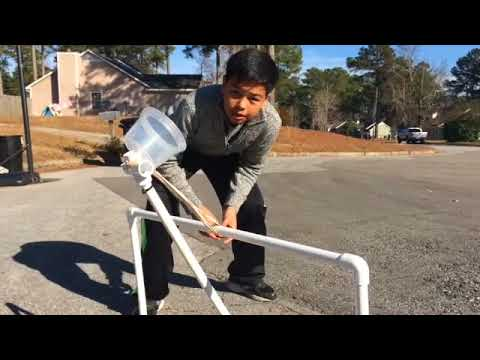 DIY catapult PVC large and small - Manny Mechanix