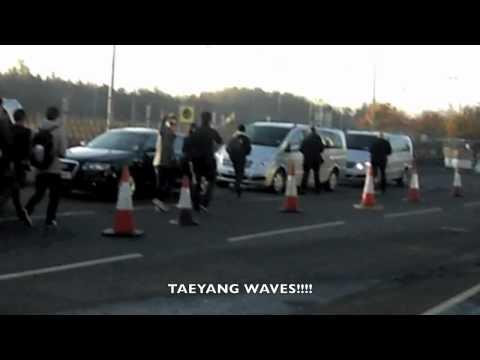 [FANCAM] BIGBANG arriving at Belfast City Airport
