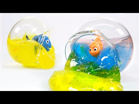 How To Make Aqua Slime ! Fishbowl Clear Slime | MonsterKids