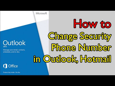How to Change Security Phone Number in Outlook, Hotmail - เปลี่ยนเบอร์โทรฯที่ใช้เชื่อมต่อกับอีเมล