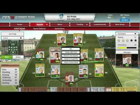 FIFA 12 Ultimate Team - First Pack Opening and Team Making HD - LIVE Commentary