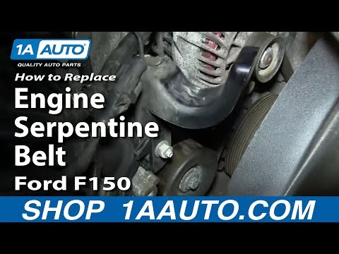 How To Install Replace Engine Serpentine Belt 4.6L 5.4L V8 2004-08 Ford F150