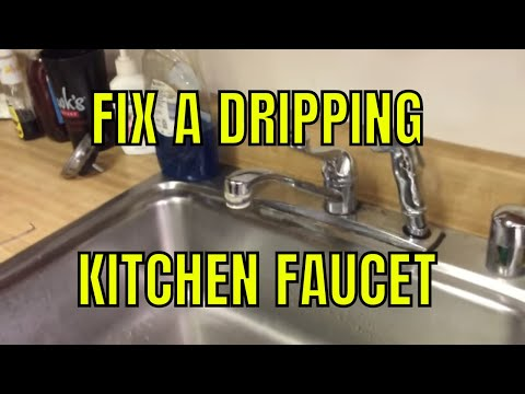 How to Fix a Dripping Kitchen Faucet - Single Handle