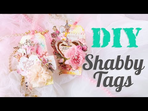 DIY. Shabby Tags. Scrapbook tutorial. Scraps Of Darkness September 'Blush' Kit