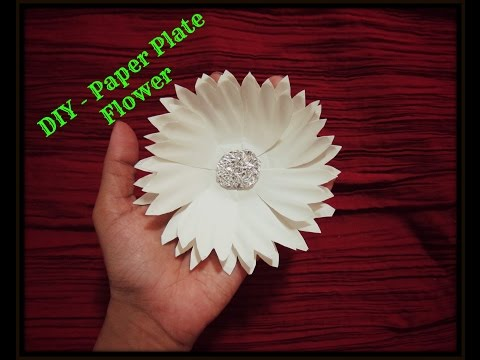 DIY - How To Make Paper Plate Flower