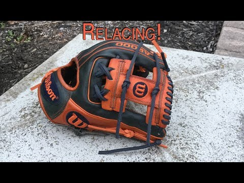 Wilson A2000 1786 Jose Altuve Glove Relacing!