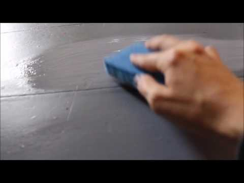 How to Chalk Paint with no Paint Brush