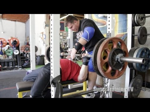 Bench Press with Chains 2-17-2013 | Mark Bell Commentary | SuperTraining.TV