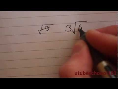 How to Simplify Radicals/Surds (Square roots) - utubeschool101
