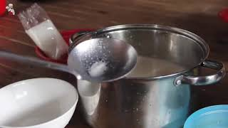 របៀបធ្វើ ចាហួយខ្ទិះ   សារាយខ្ទិះ   Coconut Jello Recipe   មេផ្ទះ Housewife